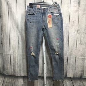 Levi's 535 Women's Super Skinny  Ripped Jeans